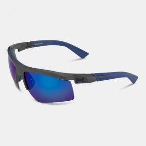 d5f37054aaf1 Frame Color: Satin Carbon/Blue Rubber Lens Color: Gray w/ Blue  Multiflection Adjustable Temples for a custom fit Air Flow Technology  prevents fogging Cap ...